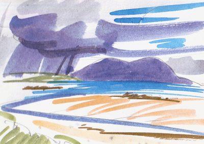 Marion Thomson, Passing rain, Corran Aird, North Uist