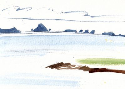 Marion Thomson, St Kilda and Monach Islands from North Uist
