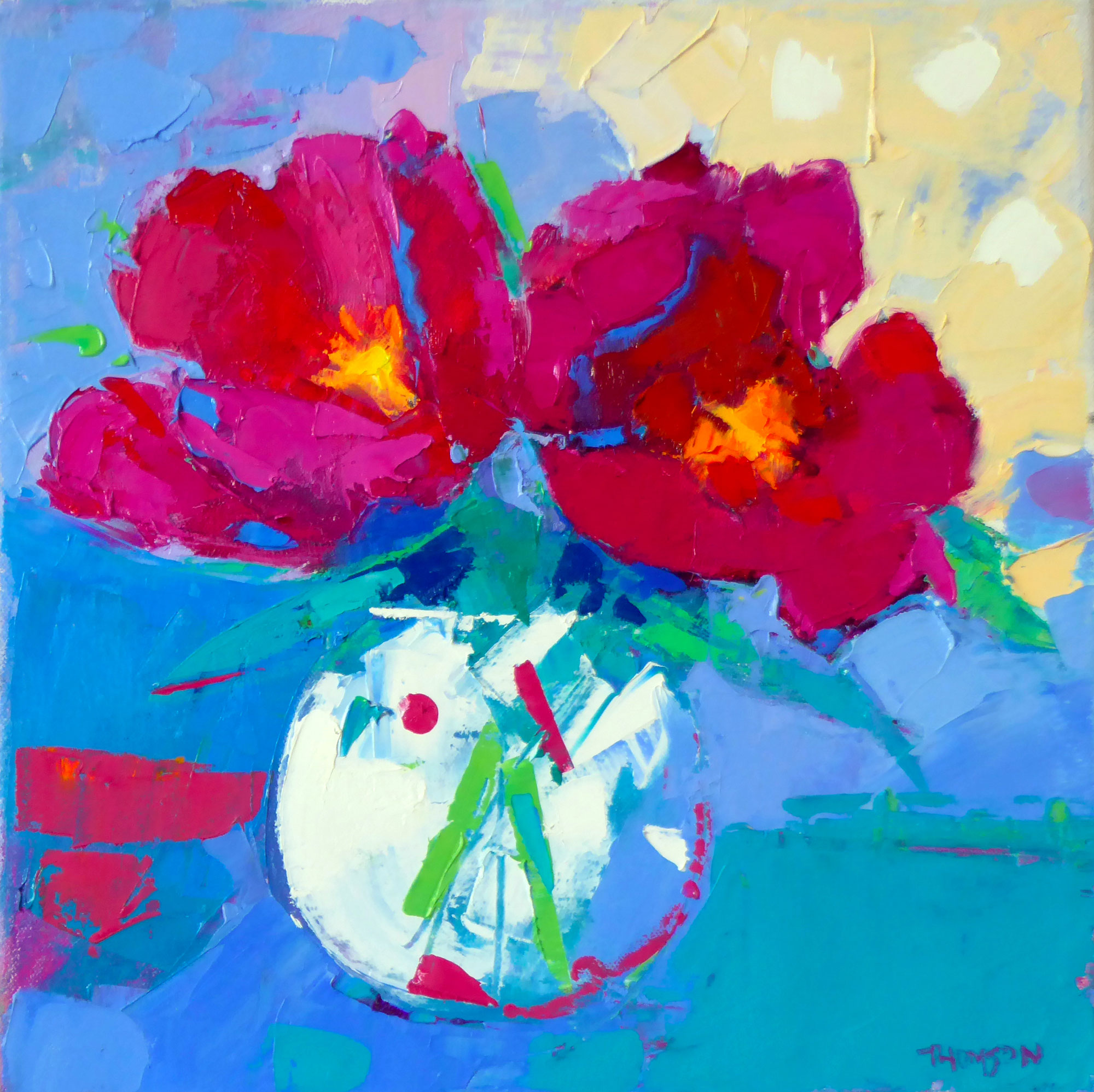 Two Peonies Ina Ginger Jar